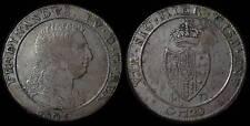 pci780) Napoli regno Ferdinando IV grana 120 piastra 1805 - UNCLEANED