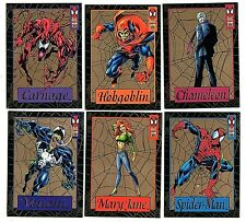 1994 Fleer Spider-Man Gold Web Complete Insert Set (1-6) Venom Carnage ++