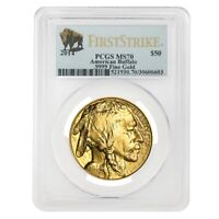 2014 1 oz Gold American Buffalo PCGS MS 70 First Strike