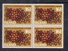 ICELAND MNH 1972 SG494 CENTENARY OF ICELANDIC MUNICIPAL LAWS BLOCK OF 4
