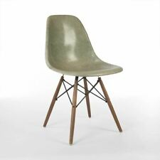 Raw Umber Herman Miller Original Vintage Eames DSW Dining Side Shell Chair