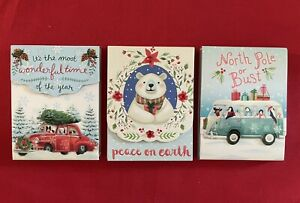Punch Studio/Molly & Rex Set of 3 Christmas Pocket Notepads-New