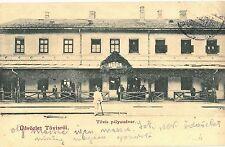 Romania Transylvania 1901 Teius Tövis Old Railway Station,rare animated postcard
