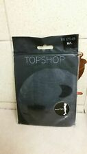 Topshop black sheer symbol tights size M-L brand new