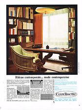 PUBLICITE ADVERTISING   1966   GARDISSETTE   rideaux voilages