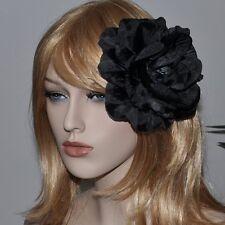 Peonía Negro Flores Seda Rosa Brosche Ramillete FASCINANTE Adorno Para Cabello