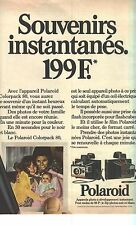PUBLICITE  1973    POLAROID  le COLORPACK 80  appareil photo