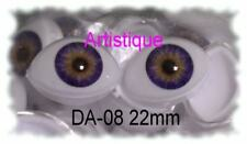 ACRYLIC LIFE LIKE DOLL EYES ~ 12mm OVAL ~ BEAUTIFUL, MUST READ RED DRESDRIPTION