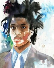 Giclée Basquiat Art Painting Artist African American Black Watercolor Man