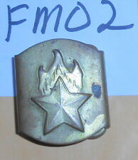 FM02 Communist era youth group belt buckle, Young Pioneers I believe