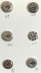 6 Antique China Calico Buttons, #5