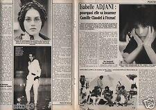Coupure de presse Clipping 1987 Isabelle Adjani  (4  pages)