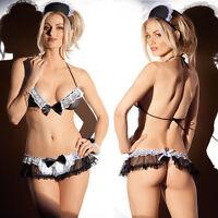 Women's Lingerie Babydoll Sleepwear Underwear Lace Dress G-string Nightwear New