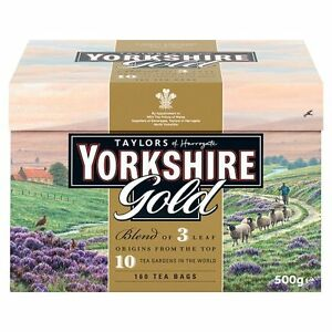 Taylors Yorkshire Gold 160 Teabags 500G - Sold Worldwide from UK