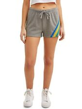No Boundaries Juniors Fleece Stripe Shorts Size XX-LARGE 19 Gray Heather