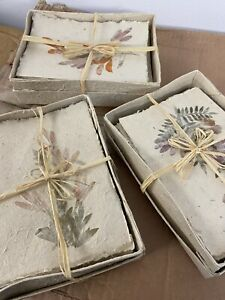 WHOLESALE LOT blank cards and envelopes pressed Flowers, Handmade Beautiful