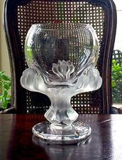 Lalique Bagheera Lion's Paw Vase Excellent Mint Condition Guaranteed Authentic