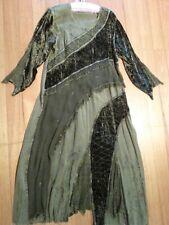 WOMENS DRESS BOHO HIPPY GYPSY VELVET GOTHIC PLUS FESTIVAL PARTY