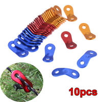 10Pcs Camping Tent Cord Hook Tensioner Buckle Tightener Adjuster Rope Fastener