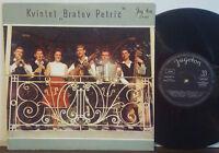 """KVINTET BRATOV PETRIČ Slovenian Polka RARE 1966 JUGOTON 10"""" LP IMPORT Tamburica"""