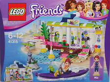 LEGO Friends 41315 Surfladen am Strand Mia Kajak Robbe Surfbretter Inliner NEU