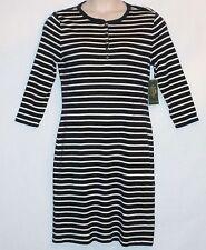 NWT! LRL Jeans Co RALPH LAUREN 3/4 Sleeve Dress Size Large - MSRP $120 - Navy