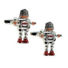 Rétro 50s Robot Métal Science-Fiction Boutons Manchette Neuf / Emballé Cadeau