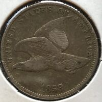 USA 1858 Flying Eagle Cent Philadelphia Small Letters Top Erhaltung #12759