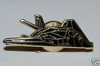 WOW Nice Vintage Black STEALTH Bomber Airplane Jet Lapel Pin Tie Tack Rare