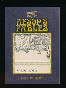 AESOP'S FABLES 2020 UPPER DECK GOODWIN CHAMPIONS 1911 EDITION #AF-2 1:2000 PACKS