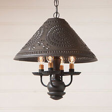 Homespun Country Kitchen Chandelier Shade Light in Black