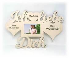 Ich liebe Dich Geschenke mit Namen & Datum für verliebte Paare Bilderrahmen