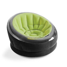 Intex Empire Inflatable Blow Up Lounge Dorm Camping Chair for Adults, Lime Green