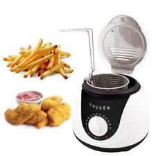 1L Electric Mini Deep Fat Fish Chip Fryer Non Stick Pan & Safe Basket 900 watt