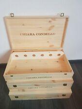 Große Holzkiste Deckel Vollholz Weinkiste Weinbox Geschenkbox Holzbox 38x12x11cm