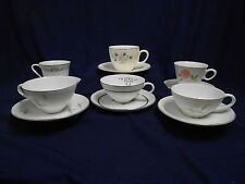 """Mixed Lot Vtg Mid Century """"Mad Hatter Tea Party"""" Set (6) Cups Saucers Lot B6"""