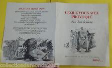 Ancienne Brochure Propagande votre devoir d'acheter Français 1930 à 50
