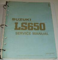SUZUKI LS650 SAVAGE LS 650 Service Repair Manual & Parts Guide 1986 thru 1990