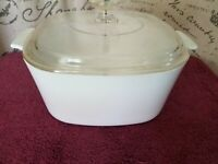 Vintage Corning Ware A-3-B White Covered Casserole 3L Pyrex A-9C Lid