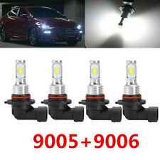 4x 9005 HB3 9006 HB4 LED Headlight Bulb Kit High Low Beam 80W 4000LM 6000K White