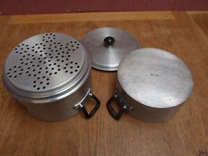 VINTAGE 1960s CROWN MERTON ALUMINIUM BAIN MARIE STEAMER PAN
