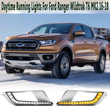 2x LED Daytime Running Light DRL For Ford Ranger Wildtrak T6 MK2 2016 2017 2018