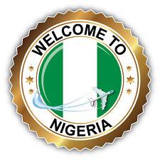 Nigeria Golden Welcome Label Car Bumper Sticker Decal 5'' x 5''