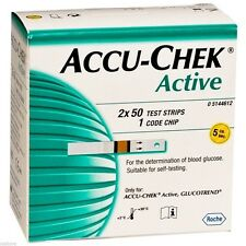 Accu Chek Active 100 Test Strip 1Box Original for Blood Glucose Meter Free Ship