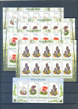 MOLDOVA  2010 SHEETS MUSHROOMS   MNH