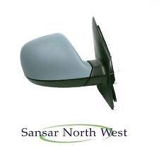 VW Transporter T5 Caravelle Drivers Door Mirror Manual In Primer O/S RIGHT 10>16