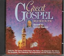 """GREAT GOSPEL MEMENTS""....""HOSTED BY GEORGE YOUNCE""....""TEN GROUPS""....GOSPEL CD"
