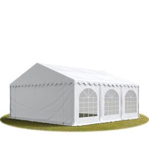 6x6 m PVC Partyzelt Gartenzelt Pavillon Festzelt Bierzelt weiß feuersicher