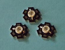 3 x 5W 940nm IR POWER  LED on HEATSINK Kühlkörper Emitter Infrarot Infrared 5mm