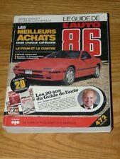 GUIDE DE l'AUTO 1986 QUEBEC - LA PRESSE